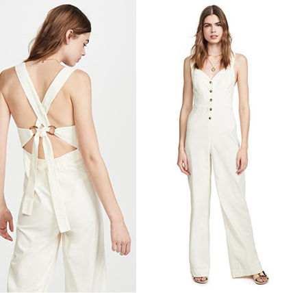 Dungarees Casual Style Plain Dresses