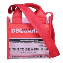 D SQUARED2 2WAY Crystal Clear Bags PVC Clothing Logo Shoulder Bags