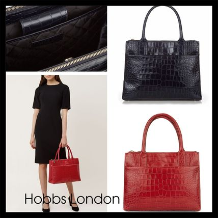 A4 Leather Office Style Elegant Style Formal Style  Totes