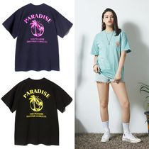 SAINTPAIN Unisex Street Style Short Sleeves Icy Color T-Shirts