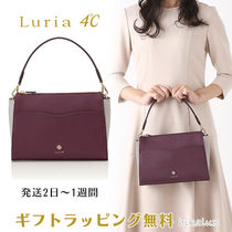 4℃ Casual Style 2WAY Plain Leather With Jewels Elegant Style
