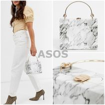 ASOS Bi-color Party Style PVC Clothing Elegant Style Party Bags