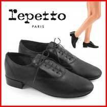 repetto Plain Leather Formal Style  Logo Loafer & Moccasin Shoes