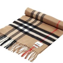 Burberry Other Plaid Patterns Cashmere Knit & Fur Scarves