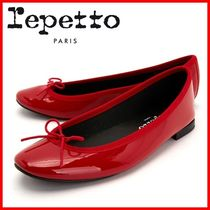 repetto Leather Logo Ballet Shoes