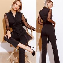 Gepur Wrap Dresses Dungarees Casual Style Tight V-Neck