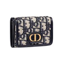 Christian Dior DIOR OBLIQUE Monogram Folding Wallet Small Wallet Logo Folding Wallets