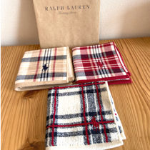 Ralph Lauren Stripes Unisex Cotton Logo Handkerchief
