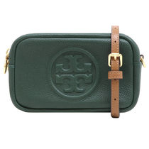 Tory Burch PERRY Plain Leather Logo Shoulder Bags