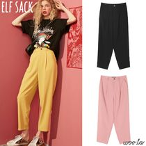 ELF SACK Casual Style Street Style Plain Long Office Style