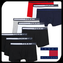 Tommy Hilfiger Bi-color Plain Cotton Logo Trunks & Boxers