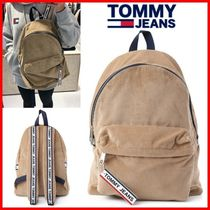 Tommy Hilfiger Casual Style Studded Street Style A4 Logo Satchels