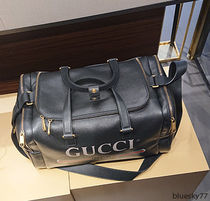 GUCCI Unisex Leather Boston Bags