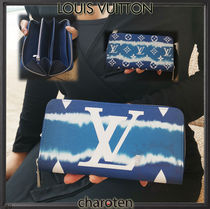 Louis Vuitton ZIPPY WALLET Monogram Unisex Calfskin Canvas Tie-dye Bi-color Leather