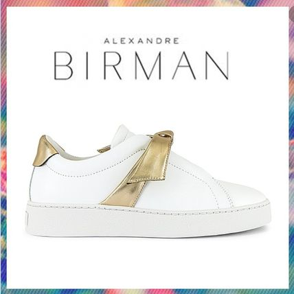 Casual Style Plain Leather Low-Top Sneakers