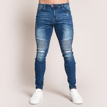 Bee Inspired Clothing Unisex Street Style Cotton Logo Jeans