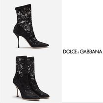 Dolce & Gabbana Plain Leather Ankle & Booties Boots