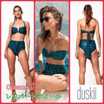 duskii Leopard Patterns Halter Co-ord Bikinis