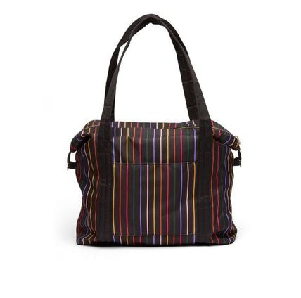 Stripes Casual Style A4 Bags