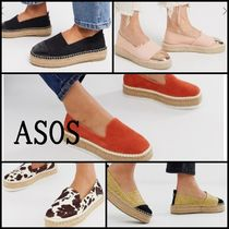 ASOS Platform Round Toe Plain Slip-On Shoes