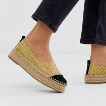 ASOS Platform Round Toe Slip-On Shoes