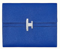 HERMES Unisex Street Style Bag in Bag Plain Leather Logo Clutches