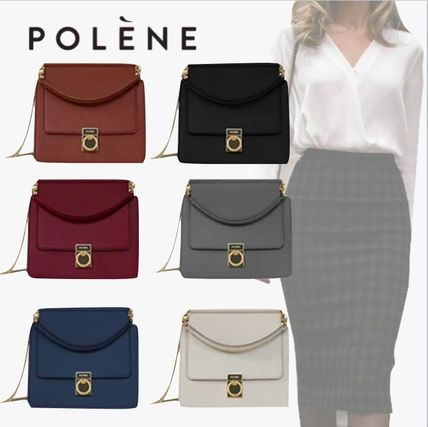 Casual Style Plain Office Style Formal Style  Shoulder Bags