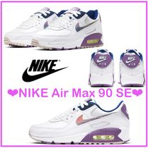 Nike AIR MAX 90 Casual Style Street Style Plain Logo Icy Color