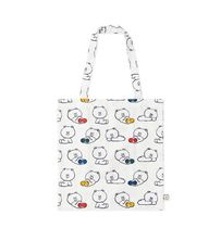 LINE FRIENDS Casual Style Unisex Street Style Collaboration Plain Totes