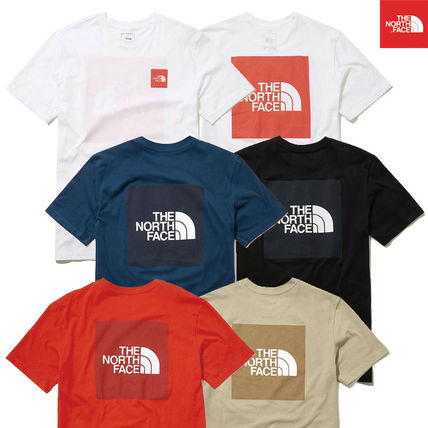 THE NORTH FACE More T-Shirts Unisex Street Style U-Neck Cotton Short Sleeves Logo Outdoor
