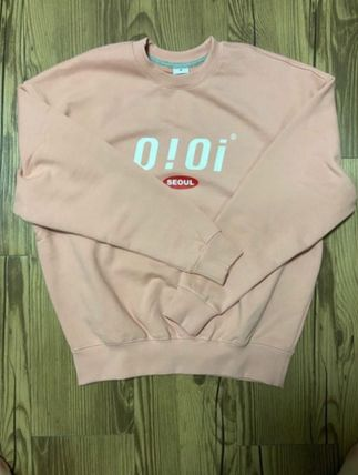 Unisex Street Style Long Sleeves Oversized Logo