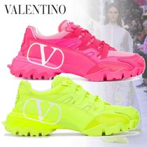 VALENTINO Casual Style Street Style Leather Logo Low-Top Sneakers