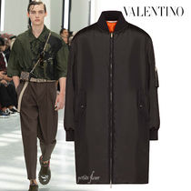 VALENTINO Plain Long Oversized Jackets
