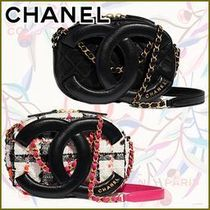 CHANEL Casual Style Lambskin Plain Leather Party Style