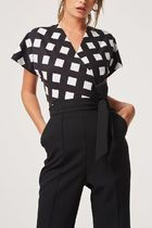 Little Mistress Dungarees Other Plaid Patterns Casual Style A-line V-Neck