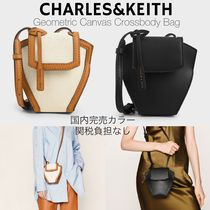Charles&Keith Casual Style Canvas Faux Fur Plain Elegant Style