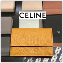CELINE Calfskin Folding Wallet Small Wallet Logo Folding Wallets