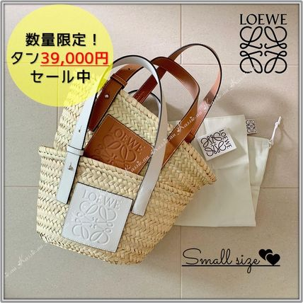 2WAY Logo Straw Bags