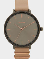 PARFOIS Casual Style Round Office Style Analog Watches
