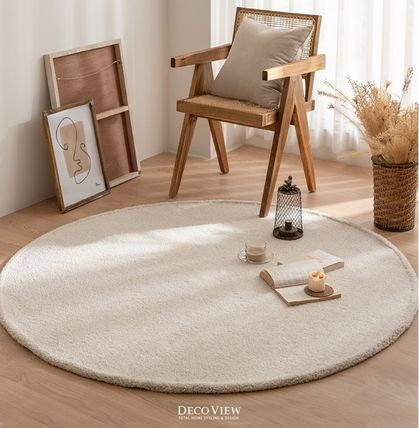 Collaboration Plain Round Carpets & Rugs