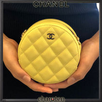 CHANEL MATELASSE Casual Style Calfskin 2WAY Chain Plain Leather Party Style