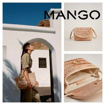 MANGO Casual Style Leather Shoulder Bags