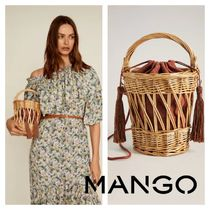 MANGO 2WAY Fringes Straw Bags