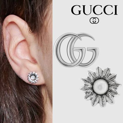 GUCCI Costume Jewelry Flower Silver Fine
