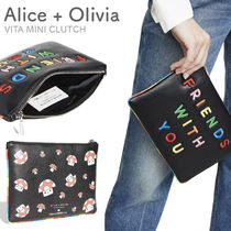 Alice+Olivia Casual Style Logo Clutches