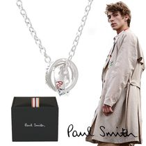 Paul Smith Unisex Silver Logo Necklaces & Chokers