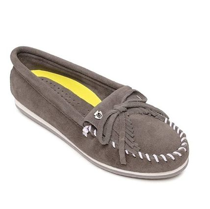 Moccasin Suede Plain Fringes Loafer & Moccasin Shoes