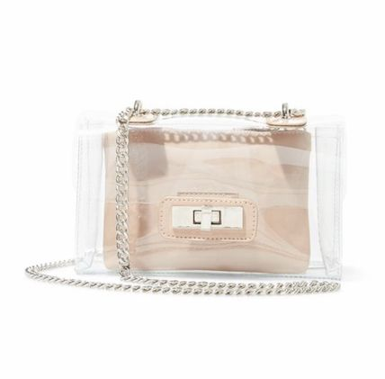 Casual Style Crystal Clear Bags Elegant Style Crossbody