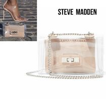 Steve Madden Casual Style Crystal Clear Bags Elegant Style Crossbody