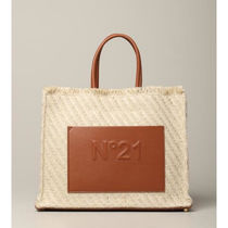 N21 numero ventuno Leather Fringes Logo Shoulder Bags